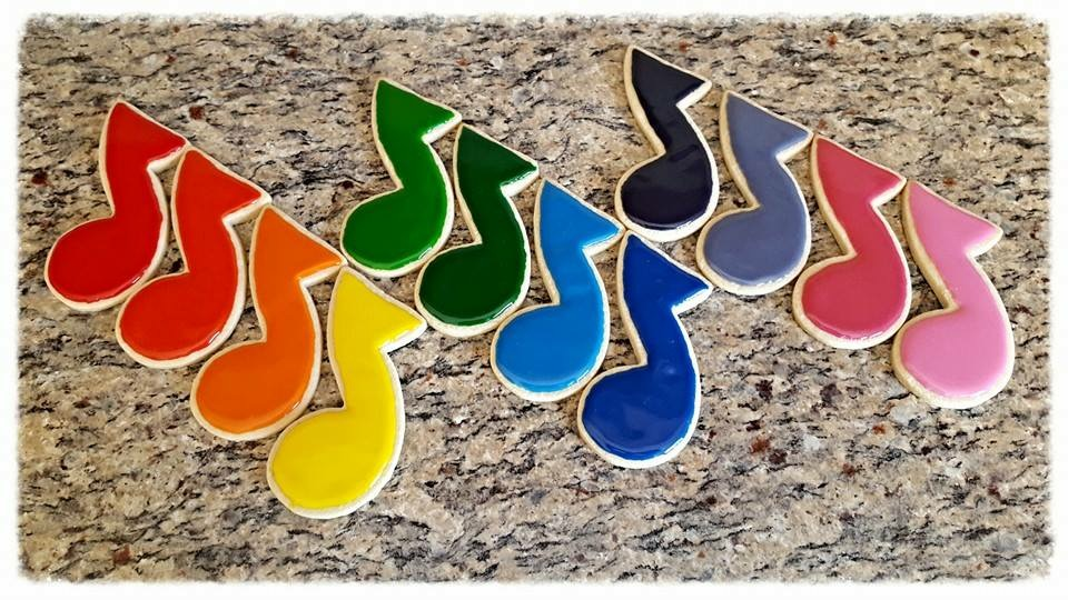 Musical Sugar cookies